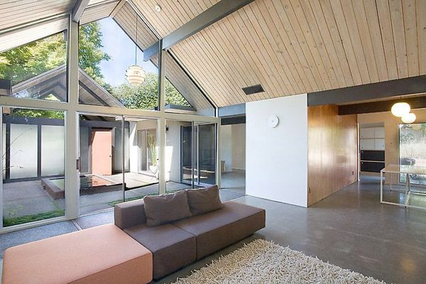 Courtyard Home Designs Gabled Roof House For Sale House Design