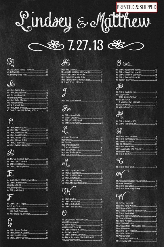 Flower Chalkboard Wedding Seating Chart Sign Printed Or Digital Item By Pleasebeseateddesign On Etsy