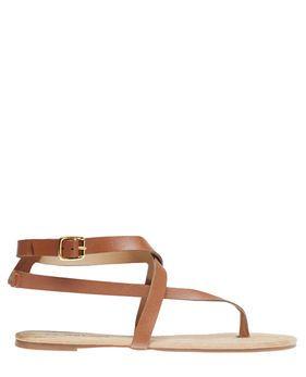 Criss-Cross V-Strap Sandals