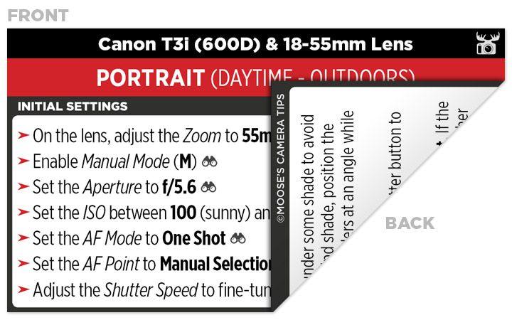 Sample Canon T3i (600D) Cheat Sheet | Photography | Camera