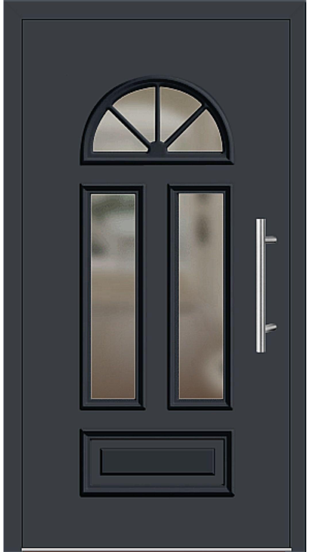 Kunststoff Haustur Modell 6448 25 Anthrazitgrau Hausturen Landhausstil Anthrazit Grau Hauseingangsturen