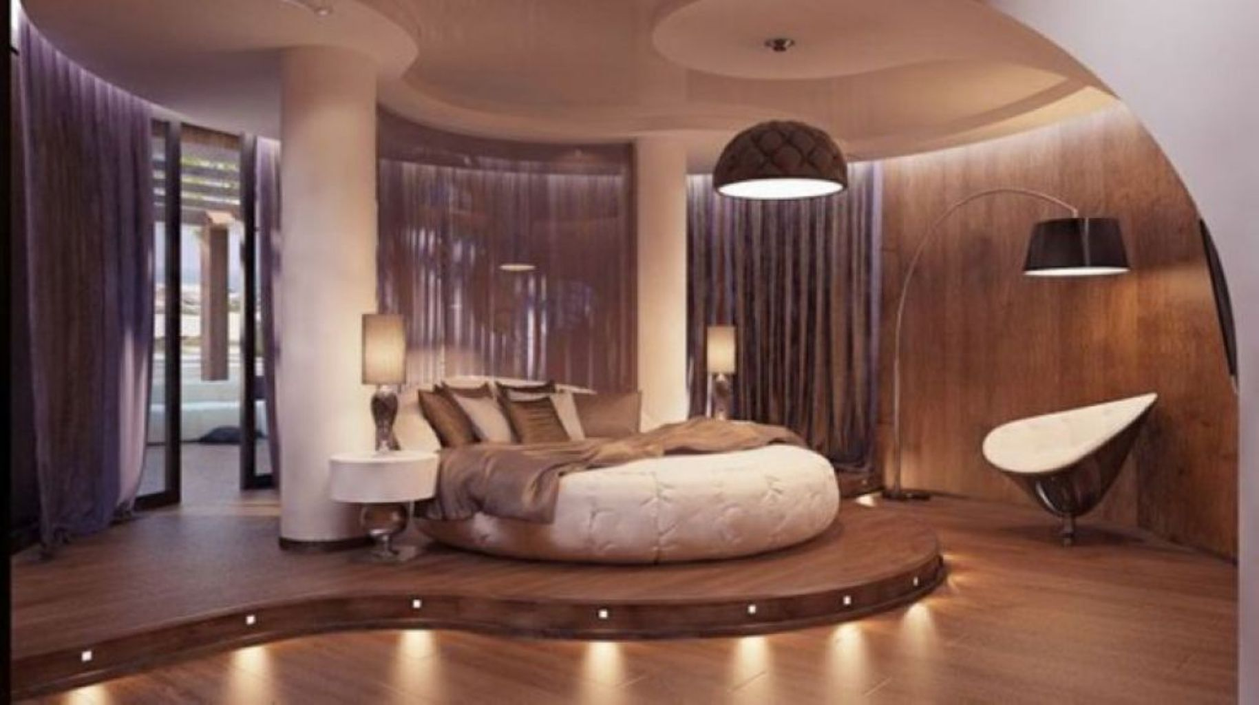 36 Glamorous Round Bed Designs for Your Master Bedroom | Round beds ...