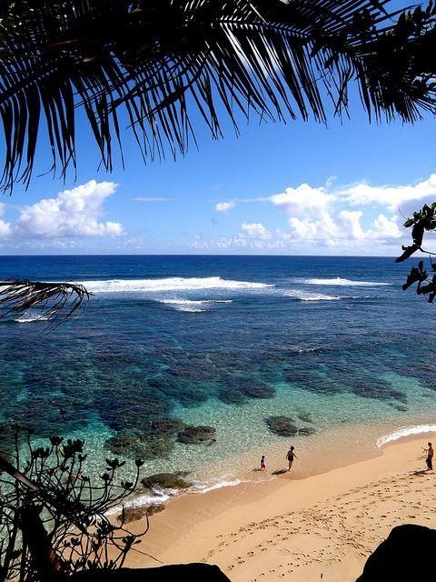 Secret Beach, Princeville, Hawaii, Via Flickr. (With