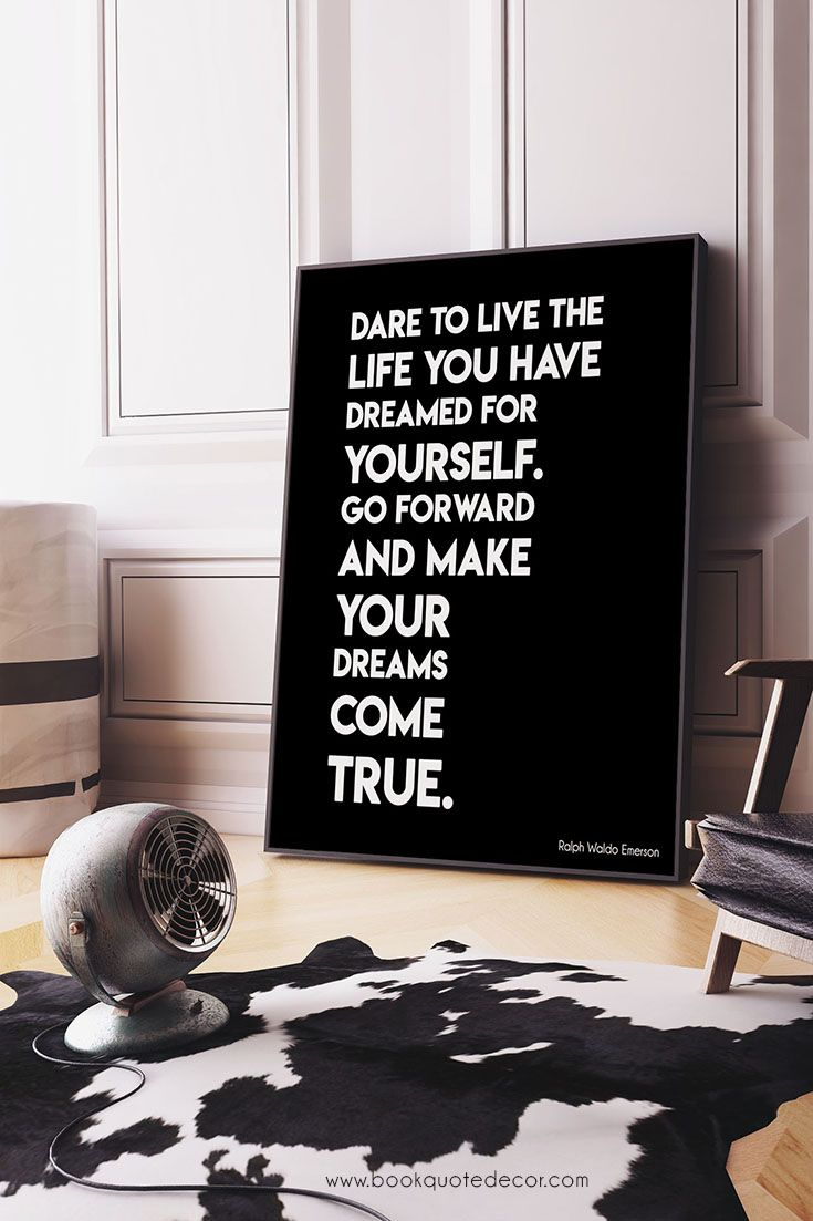 Ralph waldo emerson inspirational kids gift positive quote dare to