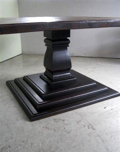 60 X 60 Square Farm Table Ecustomfinishes Square Wood Dining Tables Square Dining Tables Pedestal Dining Table