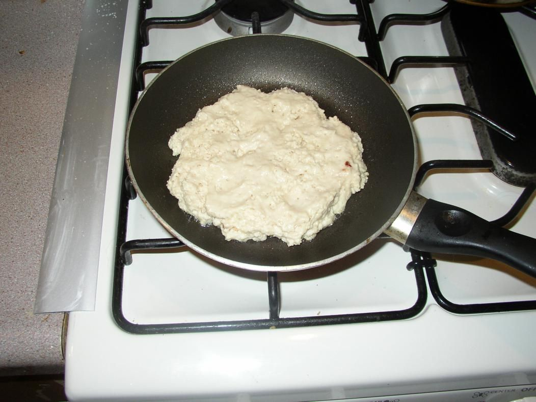 Poor Man S Bread 1 C Flour 1 Tsp Baking Powder Water Mix Into A