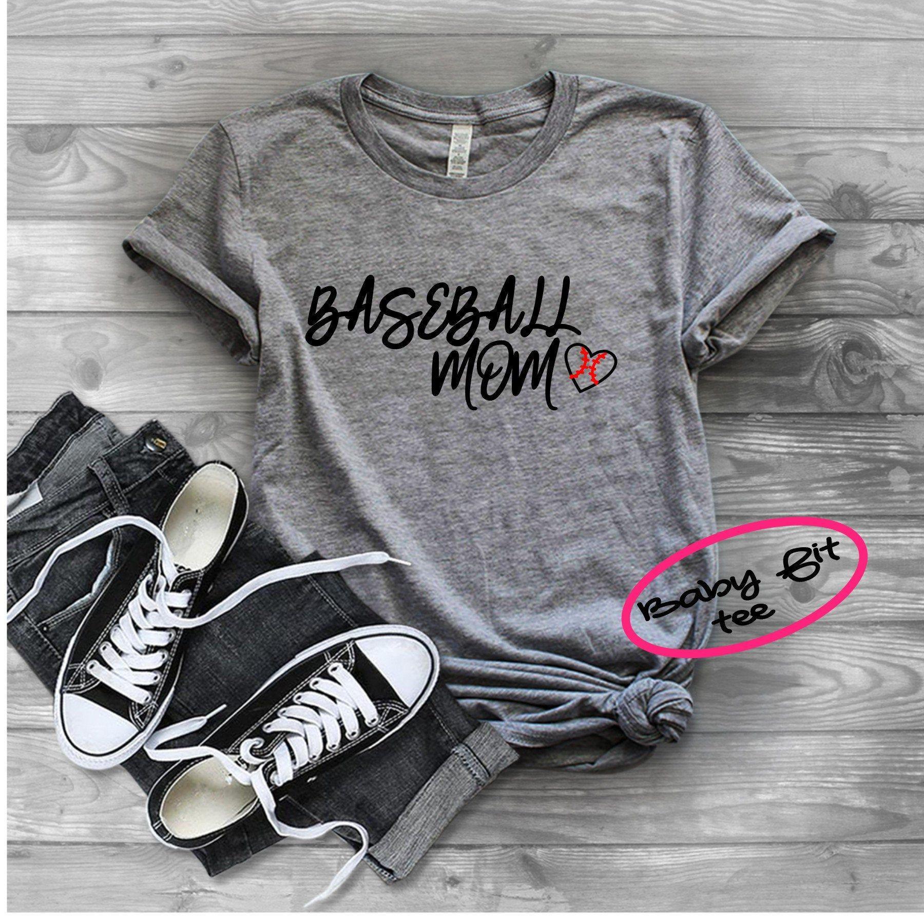 "Women's Tshirt, Women's Tank Top, ""Baseball Mom"", white"