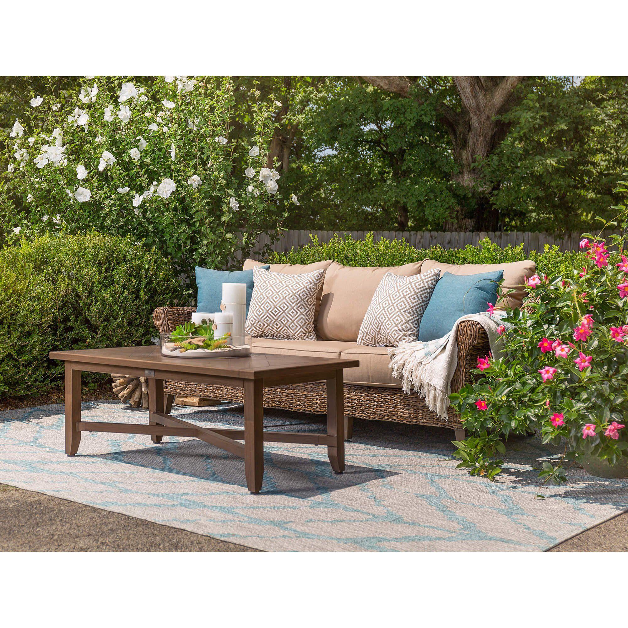 Blue Oak Outdoor Bahamas Patio Furniture Sofa With Sunbrella