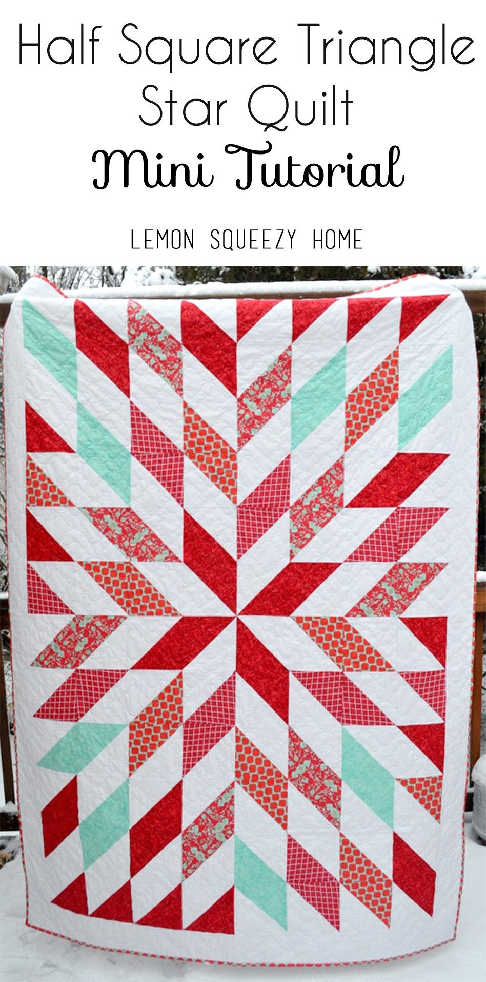 Red And Turquoise Quilt Mini Tutorial Sew It Up