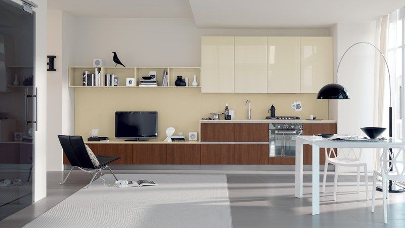 scavolini mood kitchen light scavolini contemporary kitchen. Modern Kitchen Offers Refined With Innovative Space Solutions Cream And White Wall Glass Window Curtain Rack Wooden Cabinet Table Stove Scavolini Mood Light Contemporary I