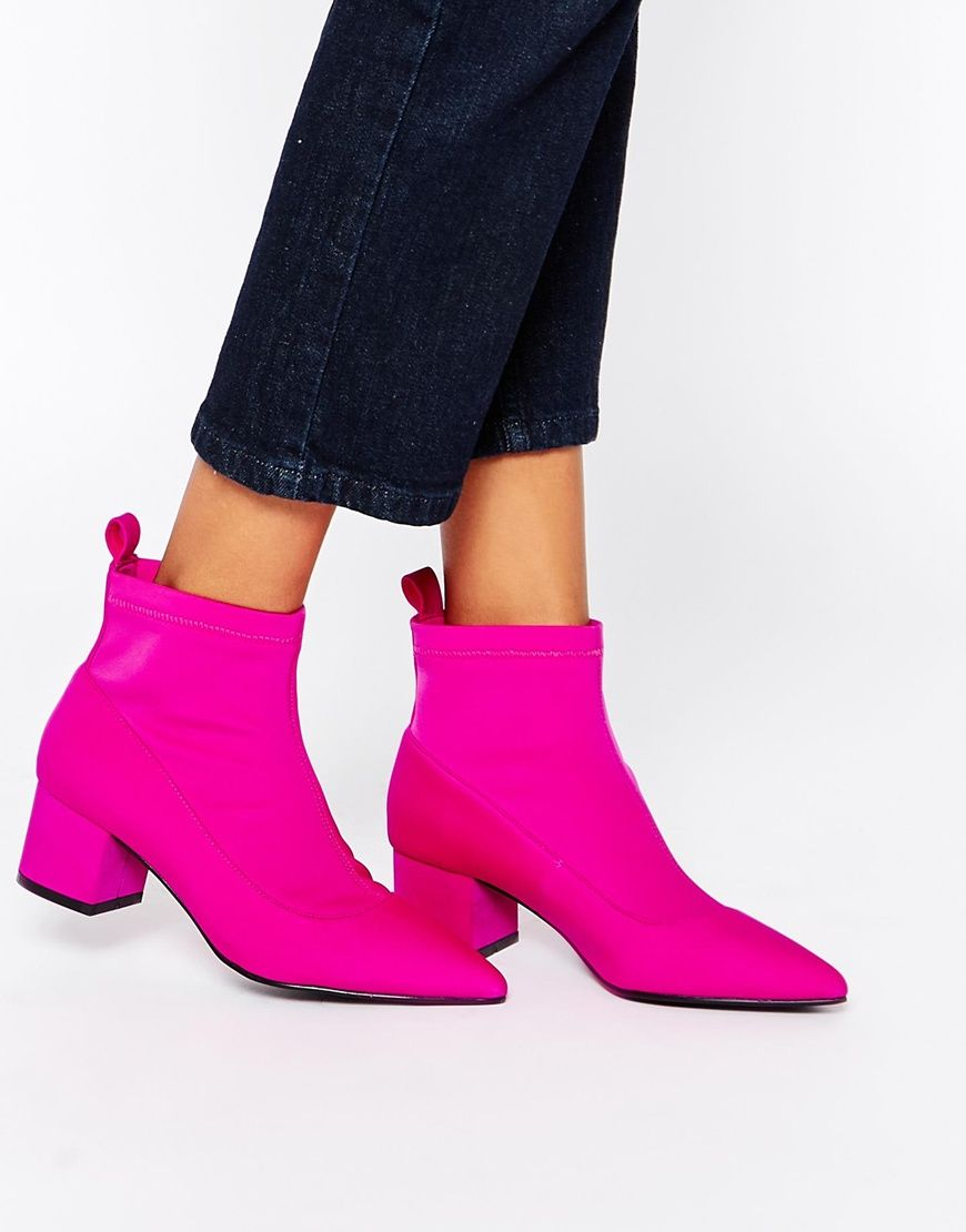 ASOS RAISE UP Pointed Ankle Boots