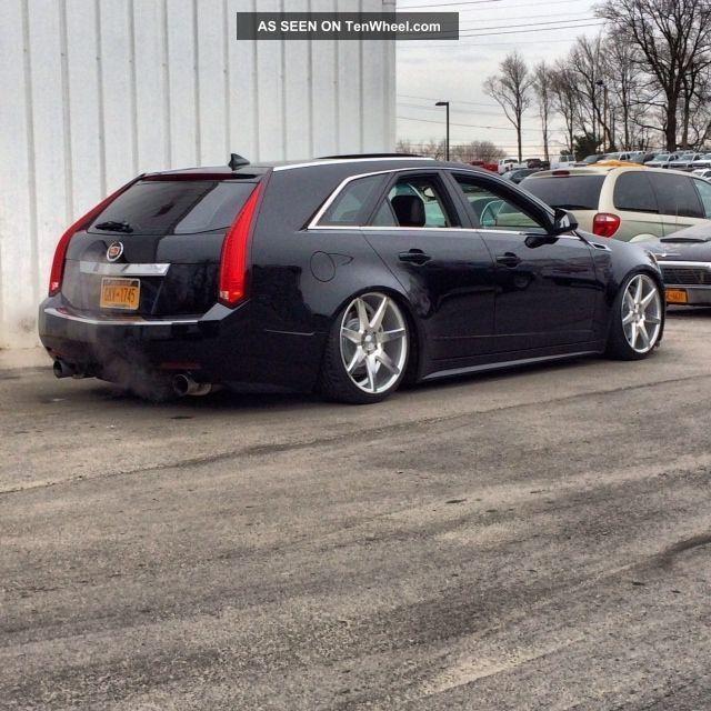 Cadillac Cts Performance Wagon  L Cts Slammed Airride One Piece Wheels Grey Black
