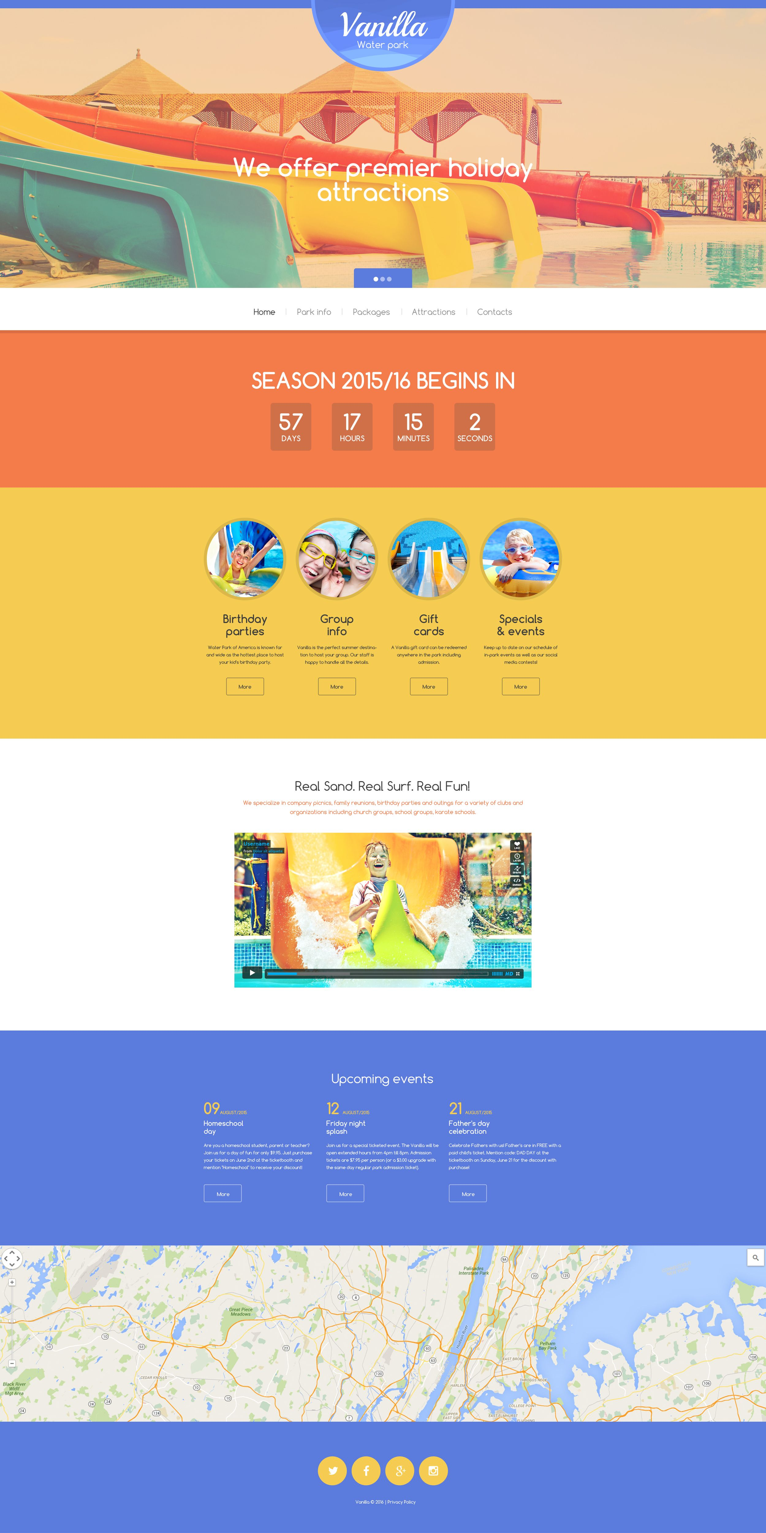 Vanilla water park website template template and website website template vanilla water park maxwellsz
