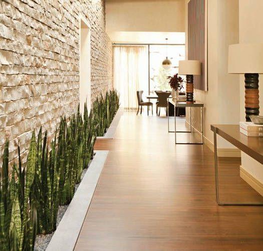 Materos en el pasillo cuando el espacio lo permite jardinería - decoracion pasillos