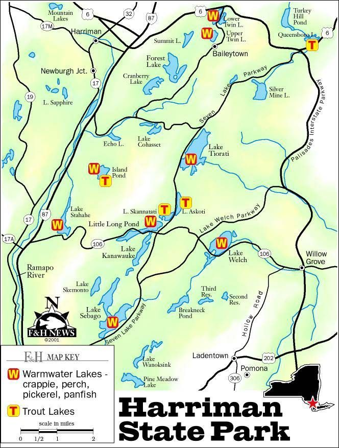 Harriman State Park, New York | Harriman State Park Map PDF ...