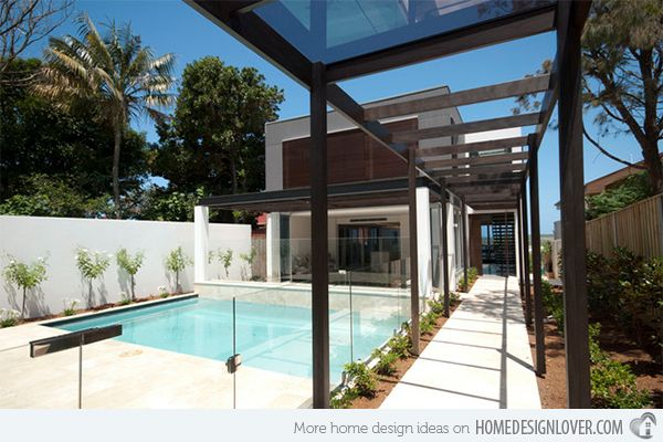 15 Transparent Glass Swimming Pool Safety Fences Home Design Lover Modern Pools Glass Fence Modern Fence