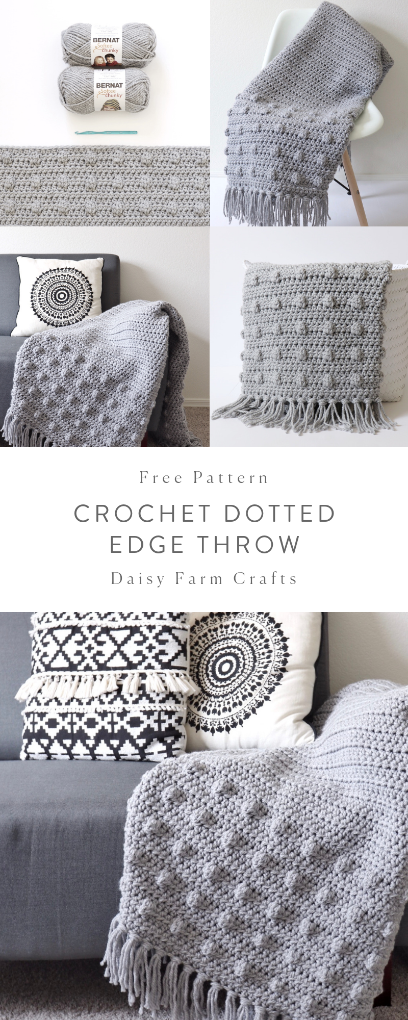 Free Crochet Pattern - Crochet Dotted Edge Throw | crochet ...