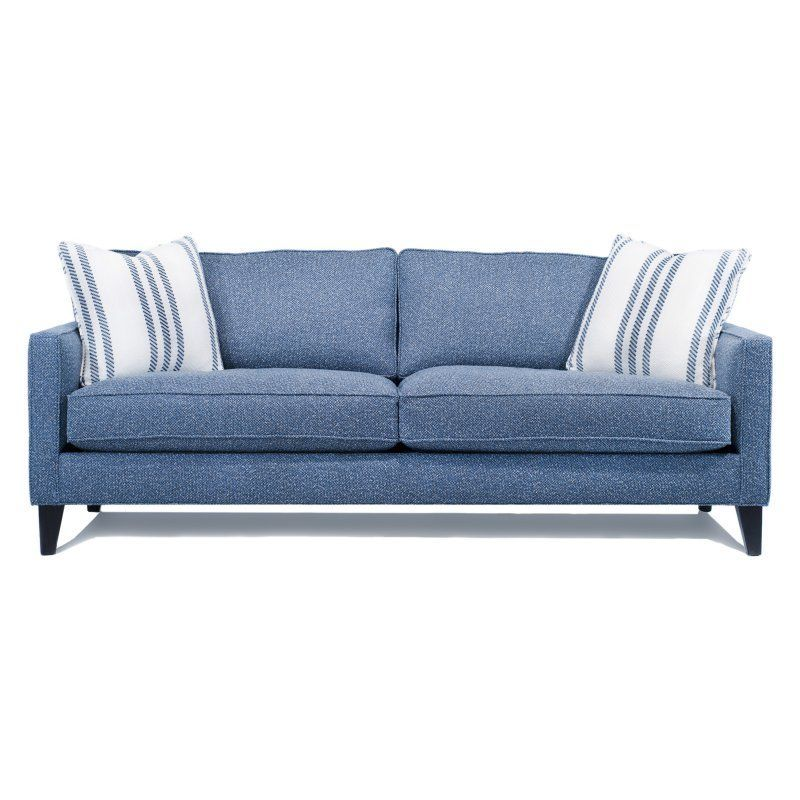 Engender Kimberly Sofa with Accent Pillows Bullet Blue - 9920-S-BULL