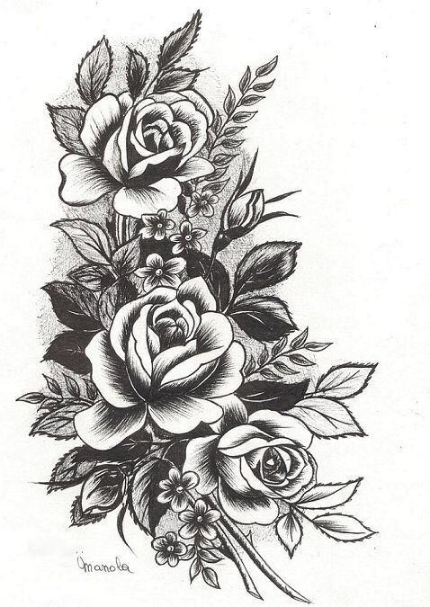 Eskiz Cvety Disenos De Tatuaje De Flores Tatuajes En La Cadera Rosa Tatuajes De La Manga