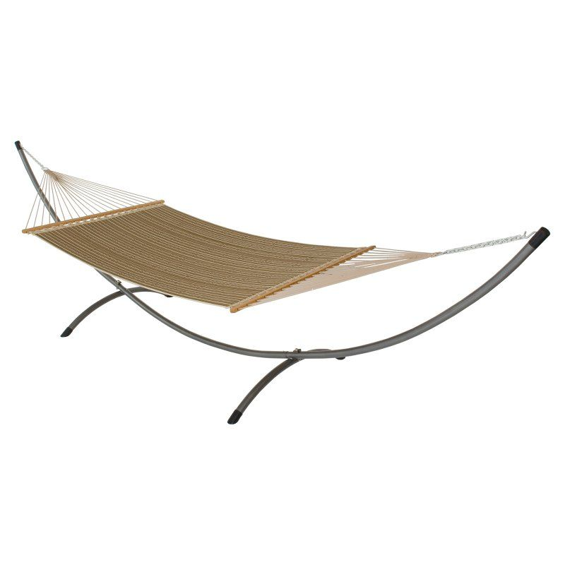 Sunbrella Harwood Deluxe Quilted Reversible Hammock And Bronze Arc