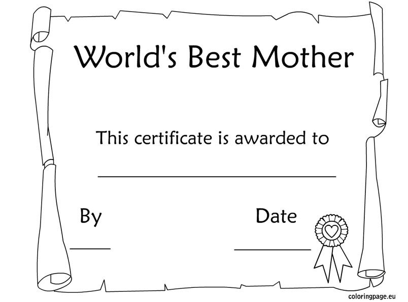 Mother\'s Day Awards Free Printable | Mother\'s Day | Pinterest ...