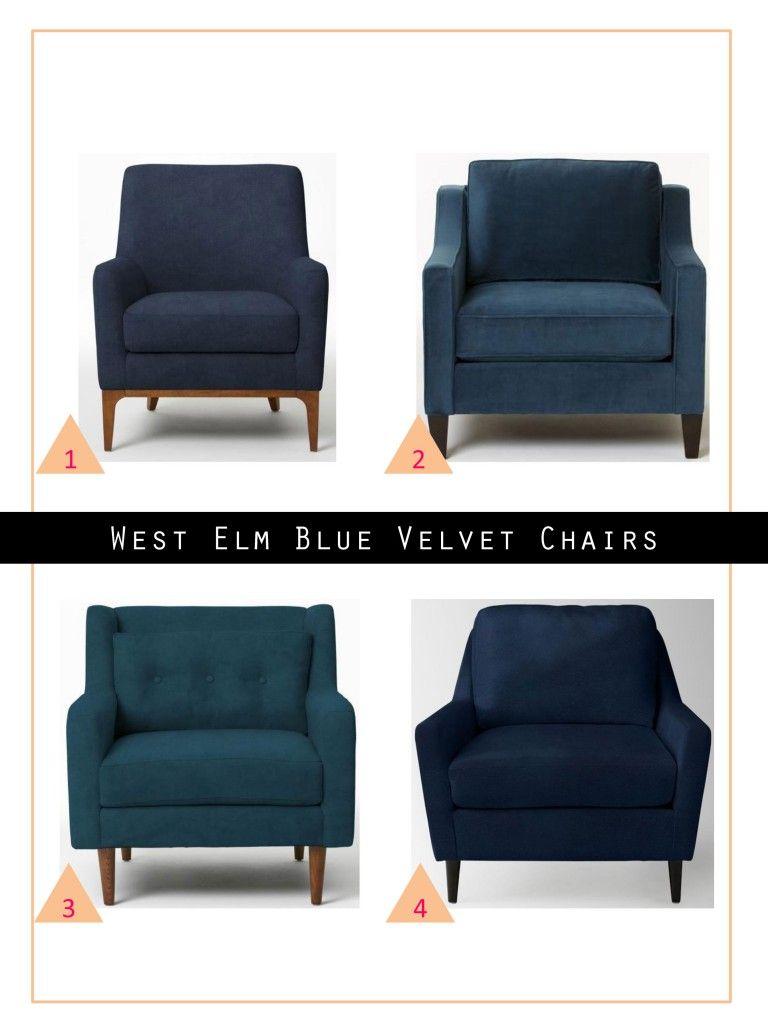 west elm velvet accent chair