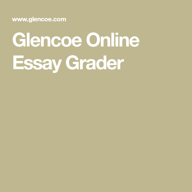 Glencoe Online Essay Grader  Teaching Info  Pinterest  Teacher  Glencoe Online Essay Grader School Teacher Teacher Resources