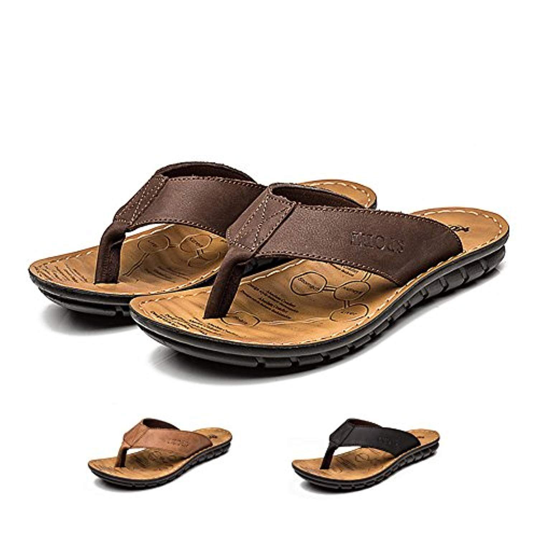 Sandales Pantoufles d/ét/é antid/érapantes Hommes /& Femme Chaussons de Salle de Bain Couples Chaussures de Plage d/écontract/ées
