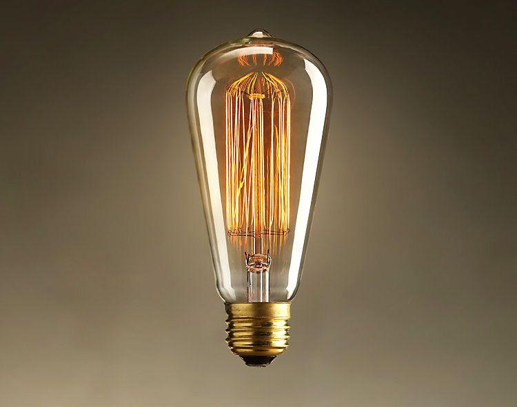 Spedizione gratuita w nostalgico retrò edison lampadine lampada