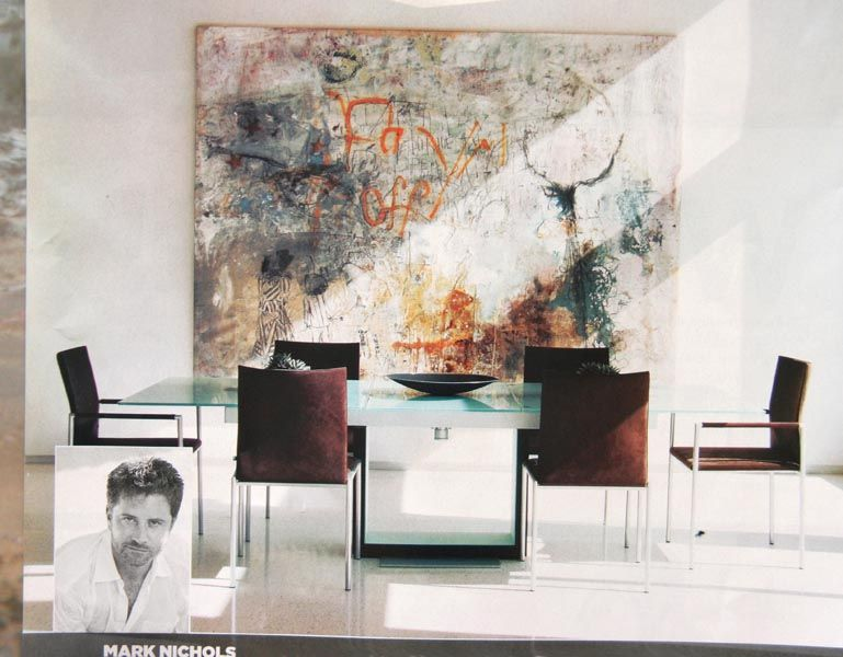 selecting art for modern interiors = 5 large abstract dining room