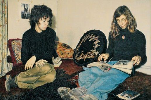 Museum Franz Gertsch - Franz Gertsch - Gaby und Luciano, acrlyic on unprimed cotton, 1973