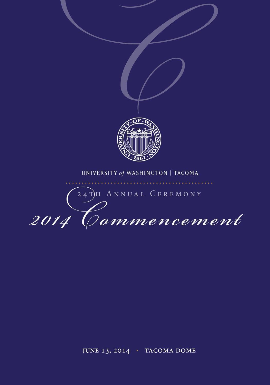 University Of Washington Tacoma 2014 Commencement Program