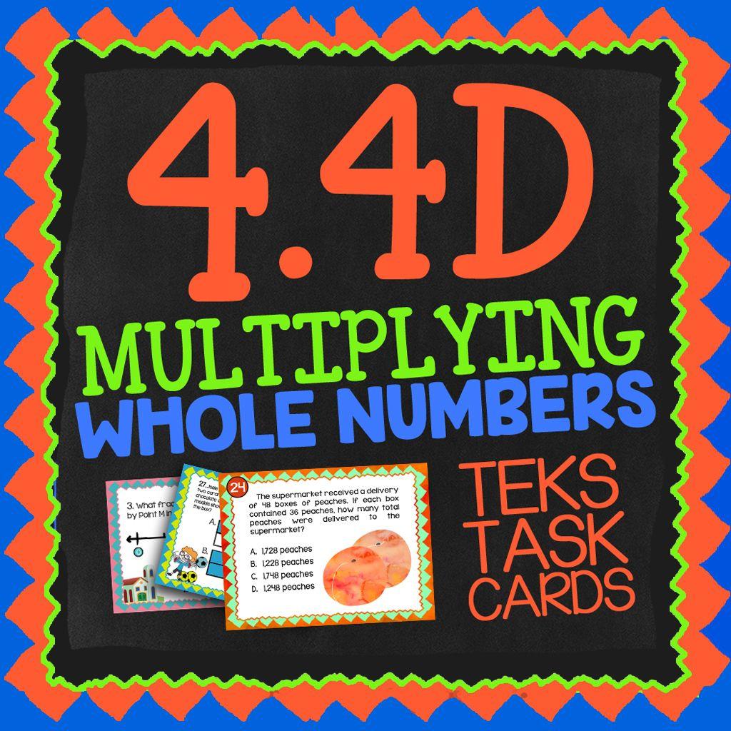 Math Tek 4 4d Multi Digit Multiplication Task Cards