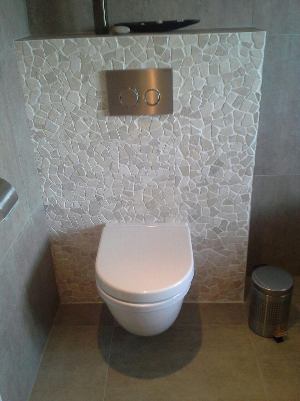 Afbeeldingsresultaat voor kiezel mozaiek toilet | Badkamer/wc ...