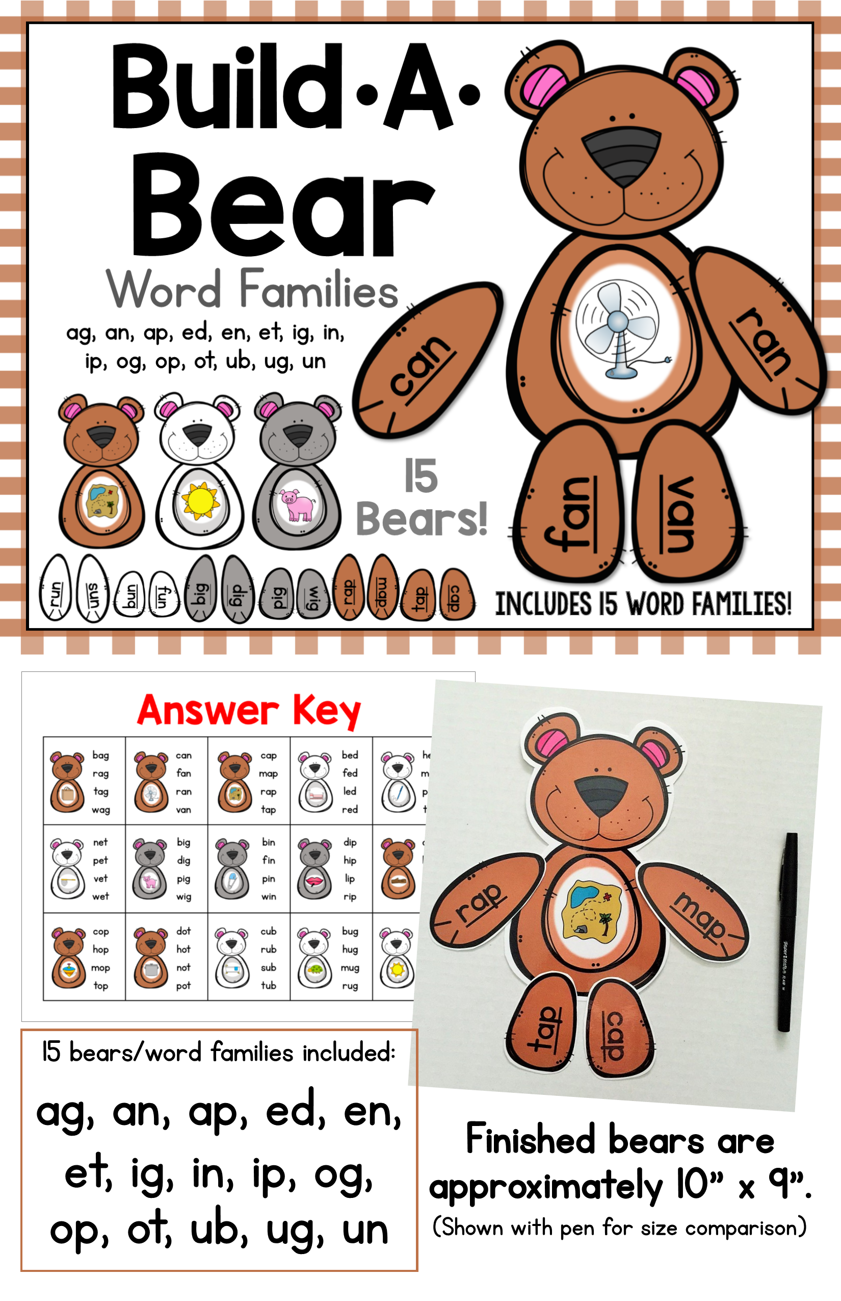 Build A Bear Word Families