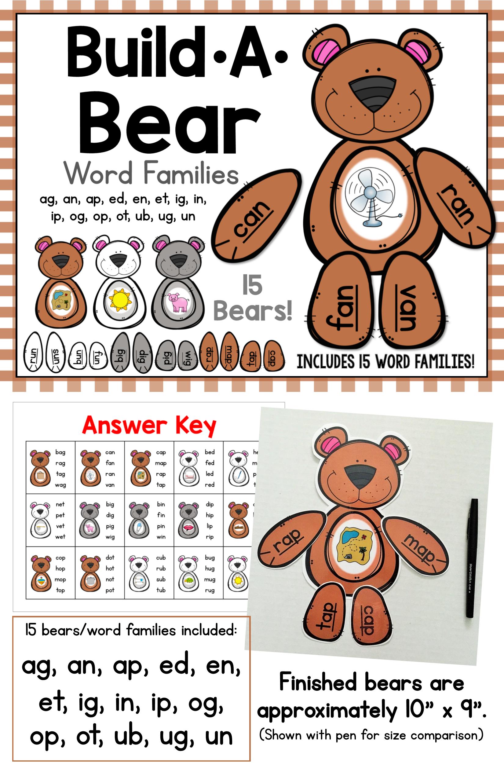 Build A Bear Word Families