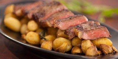 Easy Pan Fried Gnocchi with Seared Minute Steak