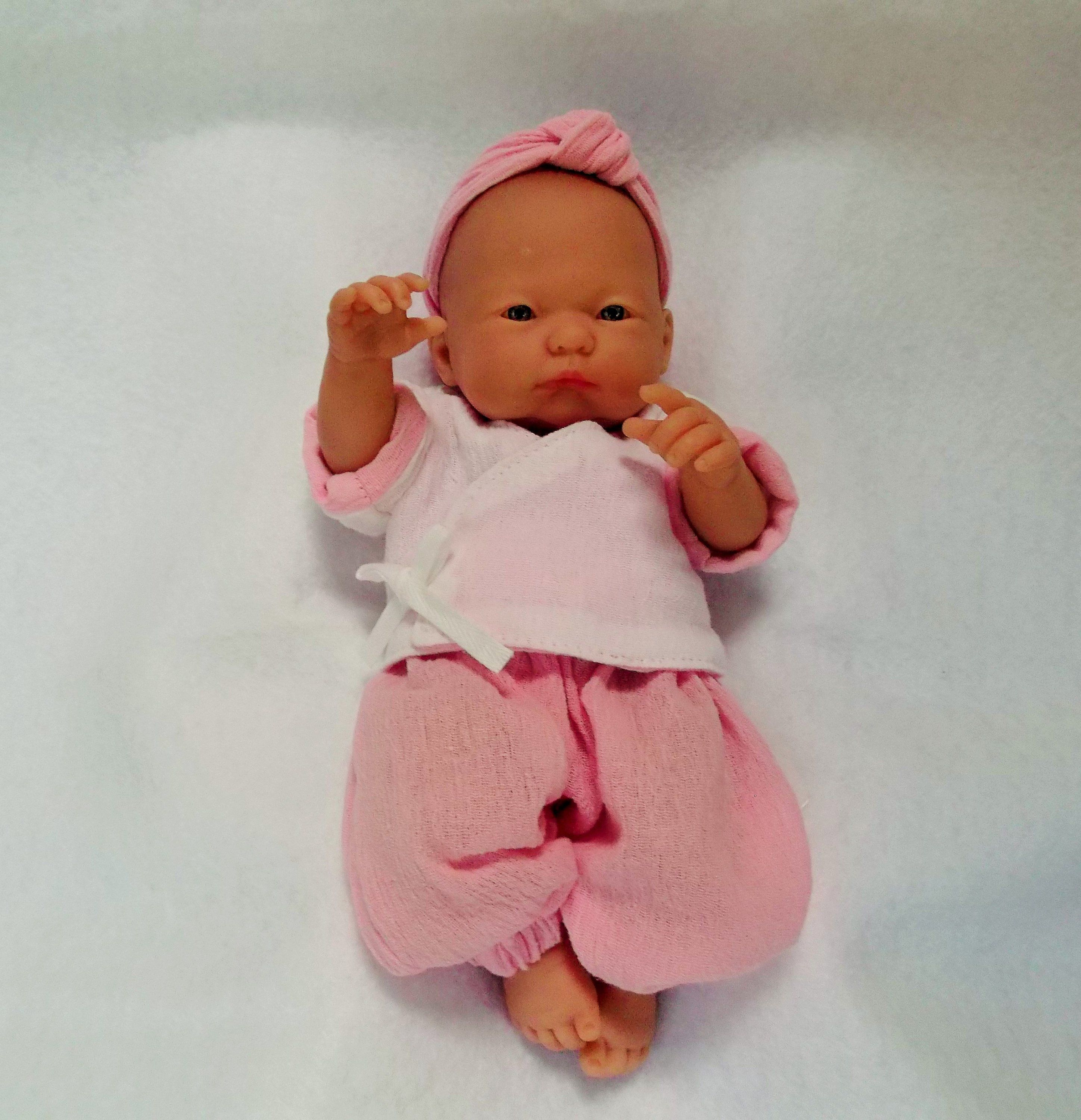 Baby Doll Harem Pants Kimono Top Headband 9 To 10 Inch Doll Outfit Reborn Silicone Doll Outfit Pink Doll Clothes Baby Doll Clothes Doll Clothes Pink Doll