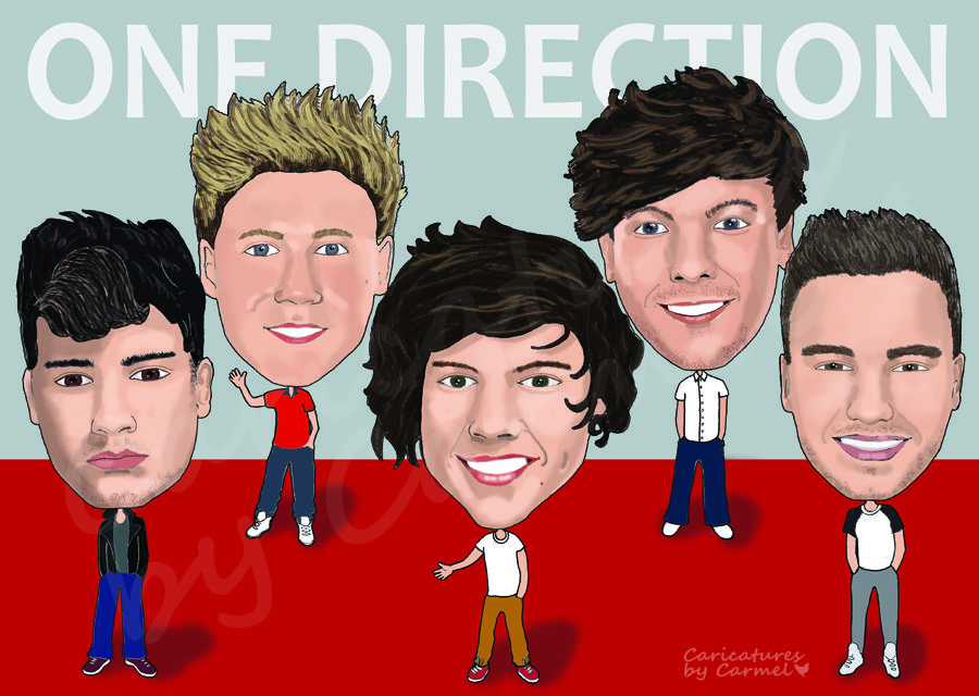 One direction a3 caricature print by caricatures by carmel one direction a3 caricature print by caricatures by carmel featuring niall horan harry styles voltagebd Images