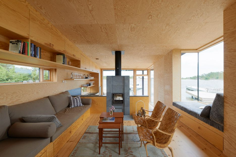 Small houses far out in the archipelago of Stockholm by Margen Wigow…