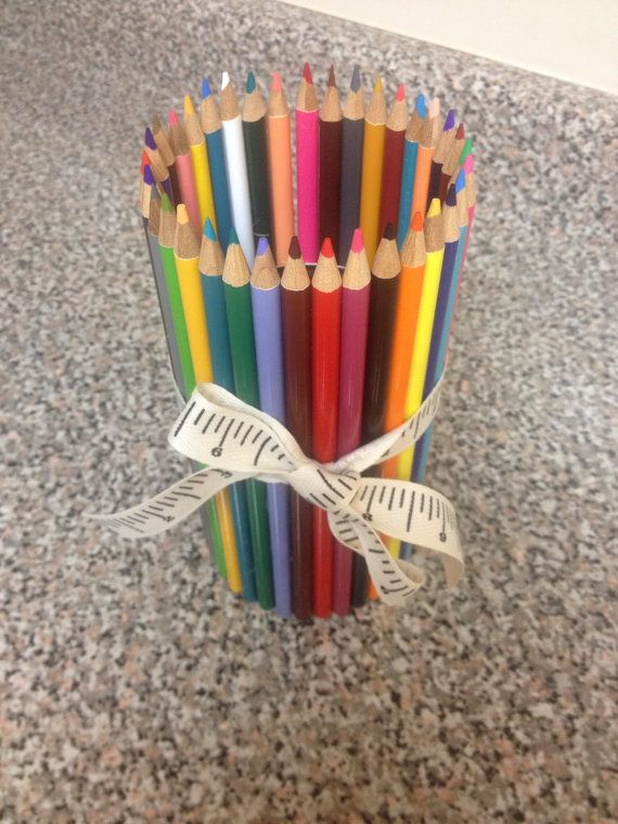 Colored Pencil Vase By Crafteteacher On Etsy Fun Stuff For