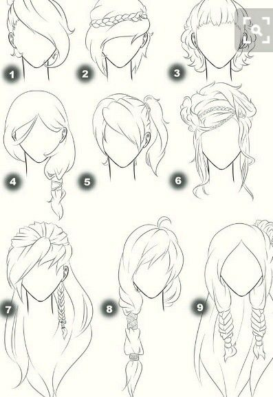 Épinglé par meriem sur coiffure Cheveux dessin, Dessins