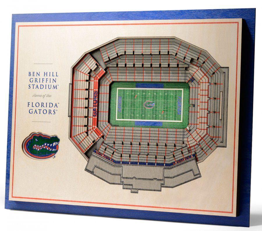 Florida Gators 5 Layer Stadiumviews 3d Wall Art 3d Wall Art Wall Art 3d Wall