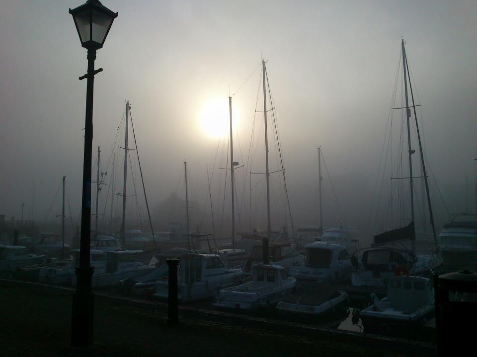Swansea Marina in the fog- https://s-media-cache-ak0.pinimg.com/originals/d0/b5/da/d0b5da7748d4837fb2146c8f55157f48.jpg