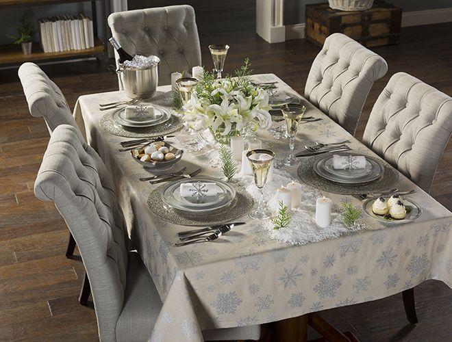 A Winter Wonderland Table Above Beyond Christmas Dining Table Winter Dining Table Decor Dining Table Decor