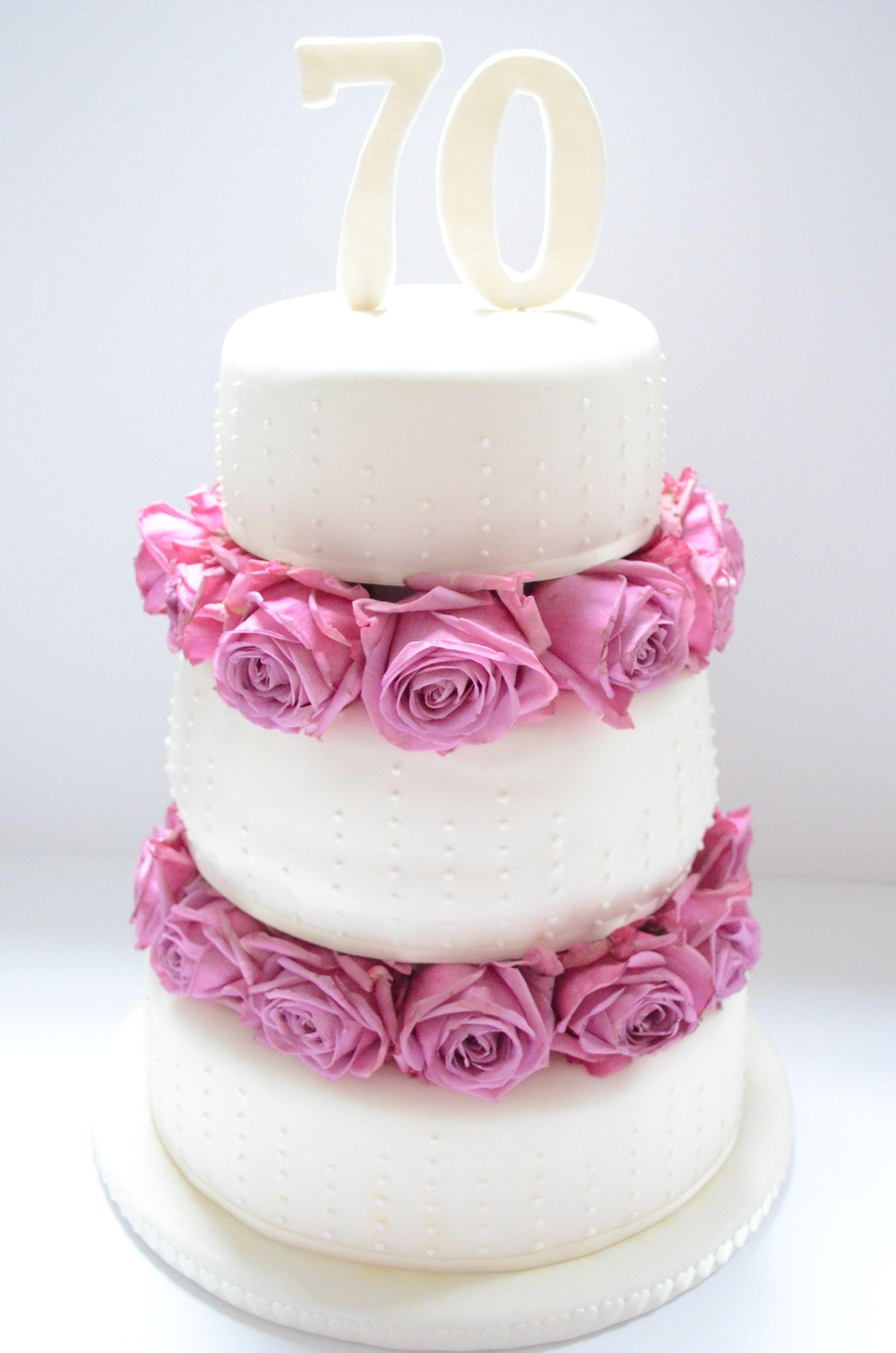 Une Grande Madame A threetiered 70th birthday fondant cake 70