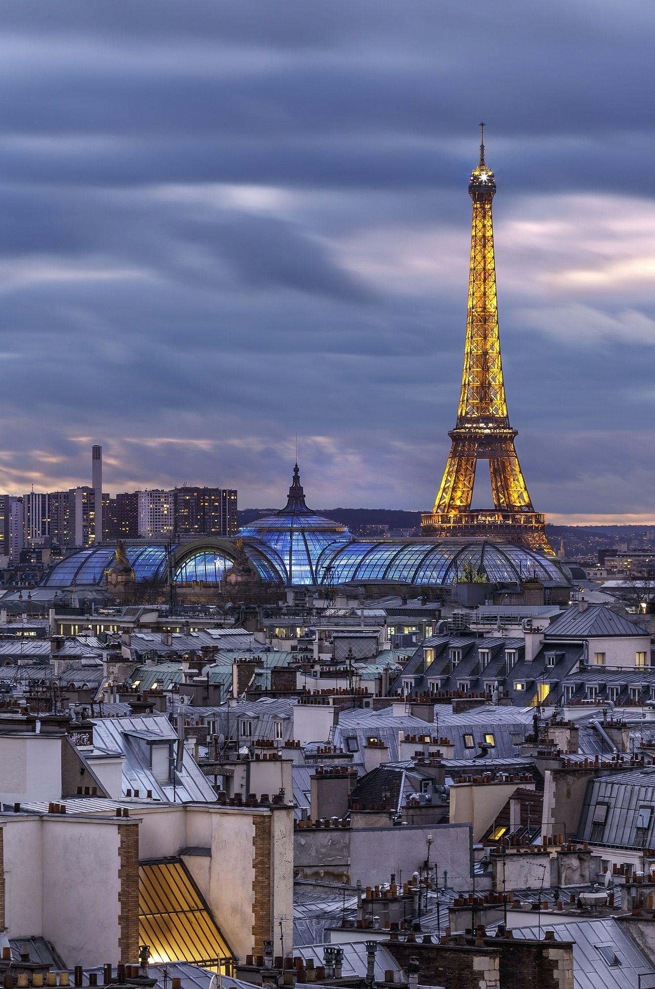 Vue des toits de paris de la tour eiffel antonio gaudencio fle paris j - Visite des toits de paris ...