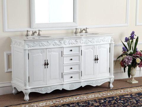 64 Benton Collection Double Sinks Beckham Bathroom Vanity Cf