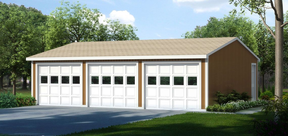 3_car_garage_eave_entry_cover with higher pitch roof to