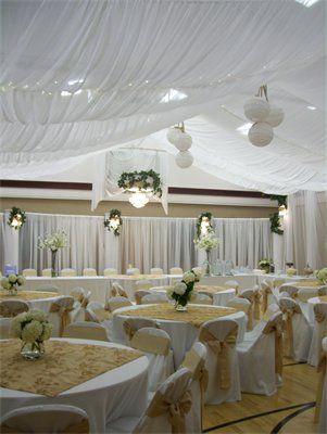 Cultural Hall Transformed Into A Wedding Reception Marriage
